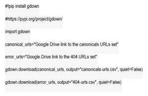 Code to upload URL set to google drive