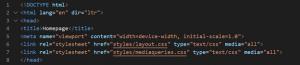 standard HTML Code